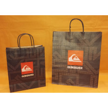 Holiday sales for Brown Kraft Paper Bag With Twist Handle Paper bags with handle export to Portugal Supplier