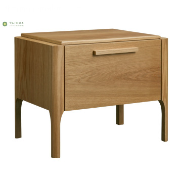 Banayad na Walnut Buong Solid Wood Night Stand