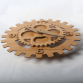 Bamboo Gear Wall Clock