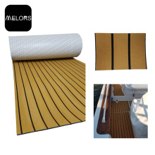 Waterproof Light Teak + Black Color EVA Faux Teak Sheet