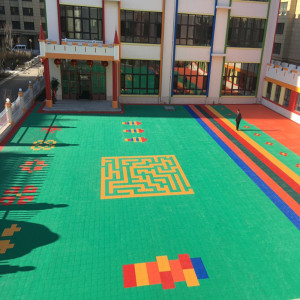 plastic outdoor kindergarten playground floor mat