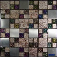 Colorful Golden Foil Glass Mosaic