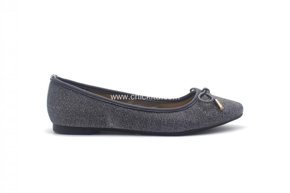 Womens Closed Toe And Back Flat With Bowknot