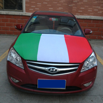 Italy Flag Spandex Material Car Engine Hood Cover FLag