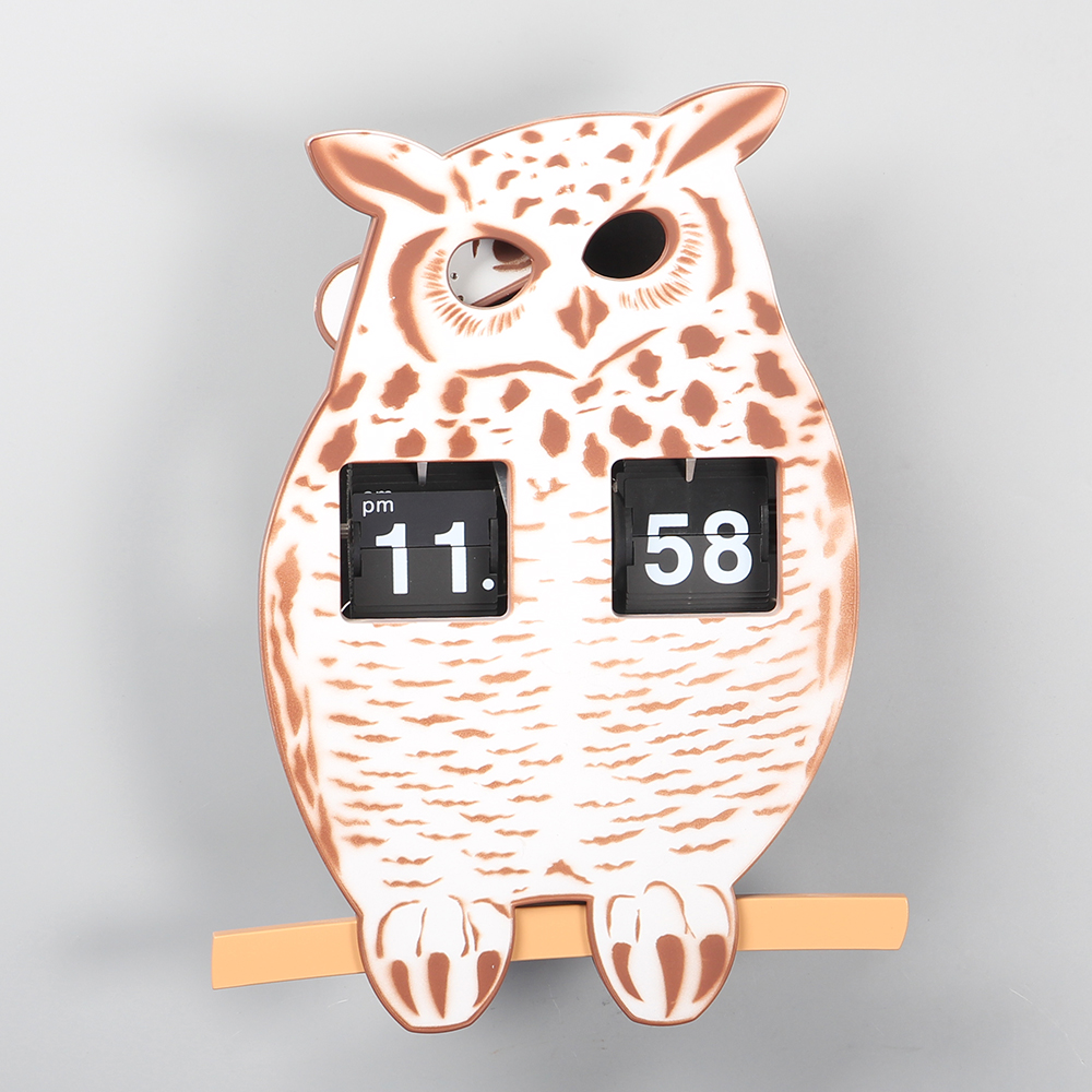 Owl Flip Clock for Decor