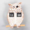 ABS Owl Flip Clock for Decor
