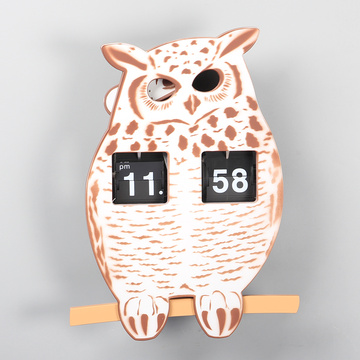 ABS Owl Flip Clocks for Decor