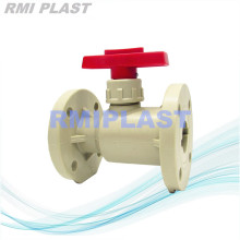 PPH Ball Valve Lever Handle Flange End JIS 10K