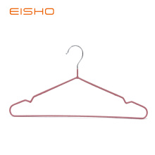 Reliable for Metal Coat Hangers,Pvc Coated Hangers,Gold Metal Hangers Manufacturer in China EISHO Adult PVC Coated Wire Hanger supply to Portugal Exporter