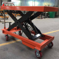 Mobile Manual Hydraulic Scissor Lift Table Trolley