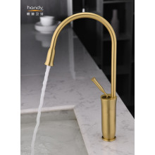 Golden Finish Deck Mounted Kitchen Faucets