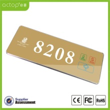 High Quality for Hotel Room Number Signs Doorplate Door Name Plates Designs for Hotel supply to Russian Federation Factories