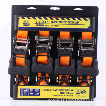 4 Pack 1.5 Inch Ratchet Lashing