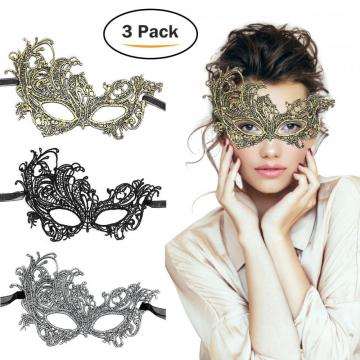 TreatMe 3 Pack Women Venetian Masquerade Mask
