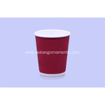 Customized for Ripple Wall Coffee Cup High quality ripple wall coffee paper cup supply to Bangladesh Factory
