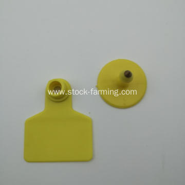 Plastic animal tracking livestock ear tag