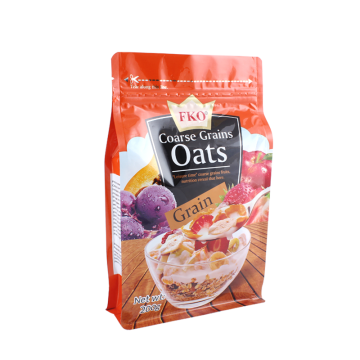 Customized Foil Gusseted Bags with Zipper for Oats