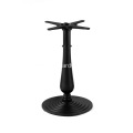 "21.6"" Round Black Bar Height Column Table Base"