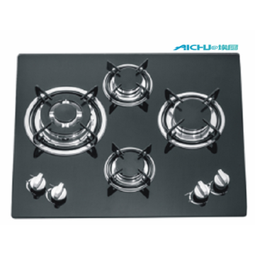 Tempered Glass 4 Burners Gas Hob
