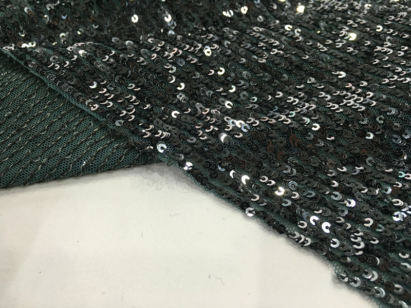 Nylon Spandex Sequin Embroidery Fabric