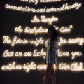 GIRL'S FAVOR Voice WALL LED NEON LETTERS