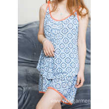 Holiday sales for Womens Pyjama Sets Flower print viscose pajama short set for summer export to Turkey Factories
