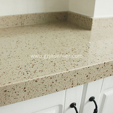 Customized Flower Color Quartz Stone Kitchentop Countertop
