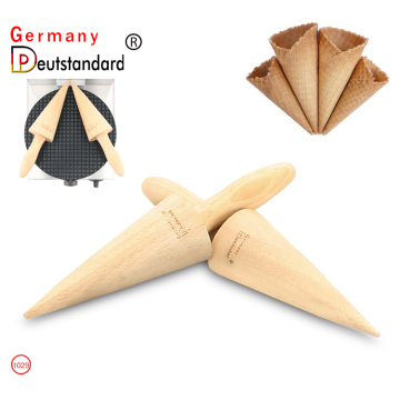Ice cream cone maker tools wood cone tool