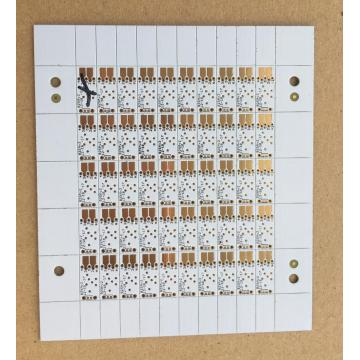 white solder PCB with 0.6mm