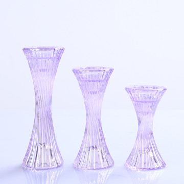 China Exporter for Glass Pillar Holders Set of 3 Crystal Glass Pillar and Taper Candle holder supply to United States Manufacturer