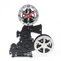 black movie Projector gear clock for home