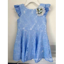 lace flower party dress