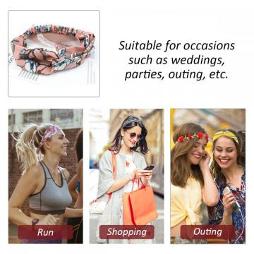 YouGa Women Flower Headbands Elastic HairBand 10/6/4 Packs