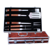 China for Wooden Handle Bbq Tools Set 4pcs BBQ tools set export to United States Manufacturer