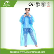 PE Adult Disposable Rain Poncho
