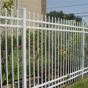 Curved wrought iron fence