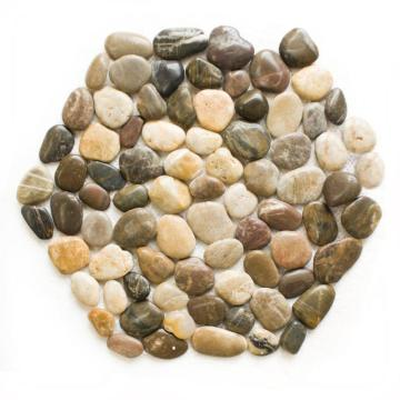 Mesh river rocks mat