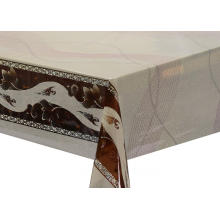Transfer Printing  scroll Tablecloth with Silver/Gold