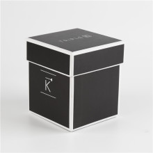 Printed Black Cardboard Paper Jewelry Gift Box