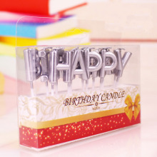 China for Birthday Cake Letter Candles letter shape gold and sliver birthday candle supply to Indonesia Exporter