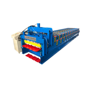 double layer glazed corrugated roofing roll forming machine