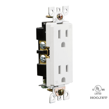 Double Wall Socket 15A/120V TR Clip Wiring
