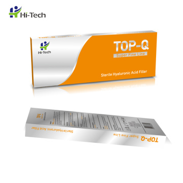 TOP-Q Super Fine Line Filler 2ml Injectable Pure Hyaluronic Acid Cross Linked HA Gel For Smile Lines
