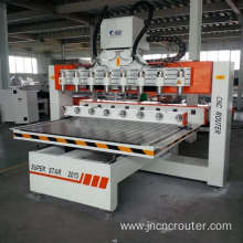multi-head cnc router eight rotary device machine