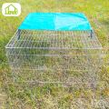 Easy Clean Folding Galvanized Wire Rabbit Cage