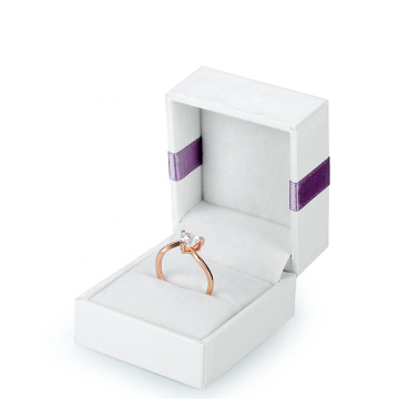 White Square Exquisite Paper Jewellery Boxes