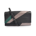 Patchwork Italian Grain Leather Ladies Purse Clutch Handbag