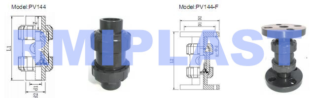 Pvc True Union Ball Check Valve