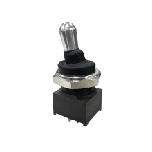 High reputation for Micro Toggle Switches Waterproof Long Life Black Sealed Toggle Switch supply to Netherlands Manufacturers