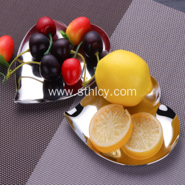 304 Stainless Steel Leaf Disc Tray Apple Dish